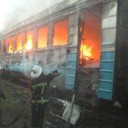 У Франківську загорівся потяг