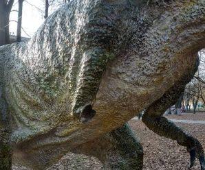 Вандалів, які понищили динозавра в парку, шукають між студентами