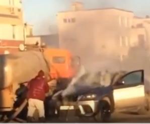 У Росії елітний позашляховик гасили лайном: Епічне відео