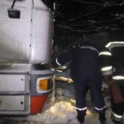 Надвірнянська маршрутка та DAF злетіли з дороги на Прикарпатті