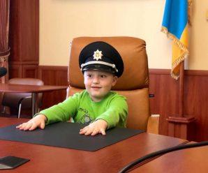 Поліцейські Івано-Франківщини здійснили мрію хлопчика (ФОТО)