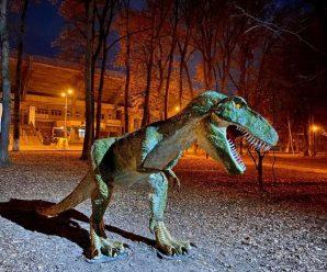У поліції кажуть, що палій фігури динозавтра у франківському парку готовий відшкодувати збитки
