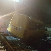У Калуші потяг врізався в авто. ФОТО