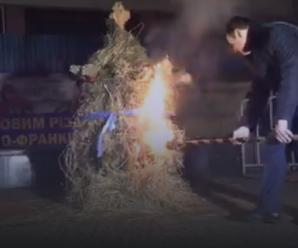 Міський голова очистив Франківськ від злих сил – спалив дідух
