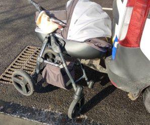 """Під Запоріжжям водій збив коляску з дитиною на """"зебрі"""": моторошне відео 18+"""