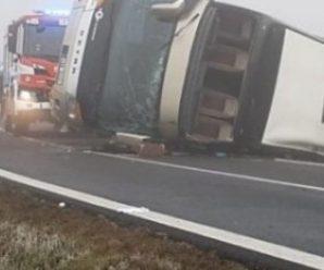 У Чехії перекинувся автобус з 70 дітьми (ФОТО)