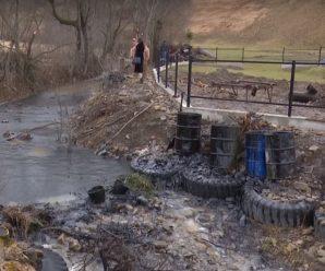 У річку на Франківщині вилилася тонна нафтопродуктів – під загрозою водопостачання. ВІДЕО