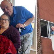Їх розлучив карантин: пенсіонер пішов на відчайдушний крок, щоб знову побачити кохану і вразив мережу (фото)