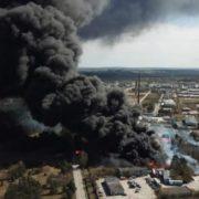 У Польщі вибухнув нелегальний полігон з хімвідходами (фото)