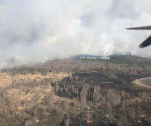 У Чорнобильській зоні спалахнула масштабна пожежа: в небо підняли літаки