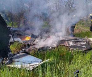 Тіла порозкидало, почалася пожежа: в Україні впав літак, всі загинули (ФОТО)