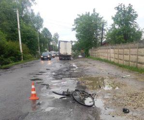 На Прикарпатті  під колесами вантажівки загинув чоловік з велосипедом (ФОТО)