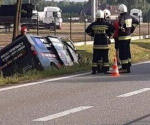 П'яний українець, керуючи бусом із пасажирами, потрапив в аварію у Польщі, багато постраждалих