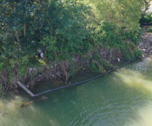 На Прикарпатті річка рознесла газопровід